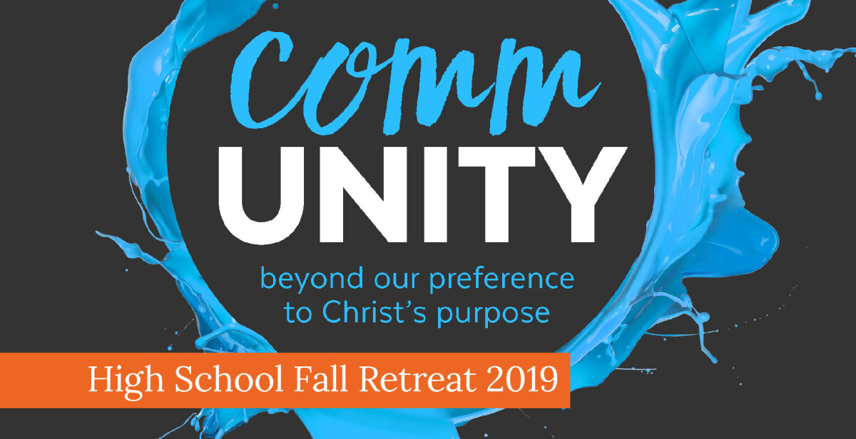 High School Fall Retreat 2019